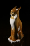 Lomonosov Lynx, Russian Porcelain, porcelaine lynx, ussr [porcelain, soviet porcelain, soviet era porcelain, allen antiques, frisco antiques, faulkner's artiques