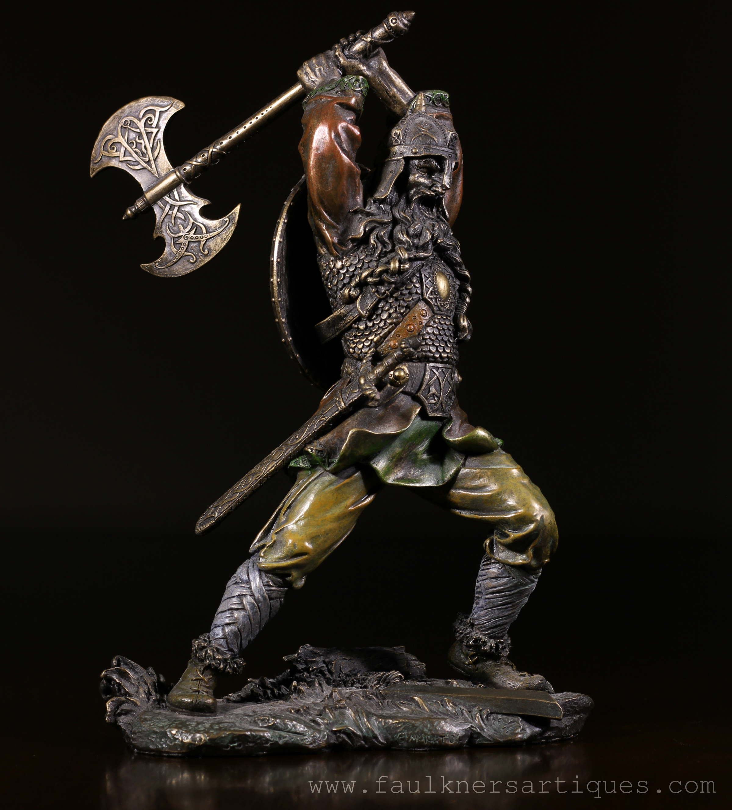 Private Sale – Viking Fantasy Warrior With Raised Axe ...