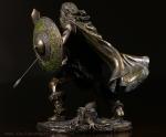 Viking warrior sculptures, viking warrior, bronze viking warrior, warrior on horseback, viking warrior on horseback, faulkner's artiques, allen antiques, frisco antiques