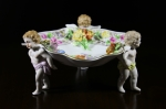 Dresden Cherub bowl, Antique Dresden, 1918 Dresden Bowl, perfect dresden cherub bowl, faulkner's artiques, Frisco antiques, Allen TX antiques, Antique dresden porcelain bowl, porcelain cherub bowl