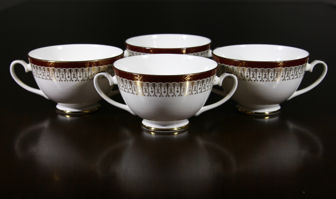 Grafton China chocolate cups, grafton chine, matching chocolate china cups, grafton, faulkner's artiques, allen antique mall, frisco antiques