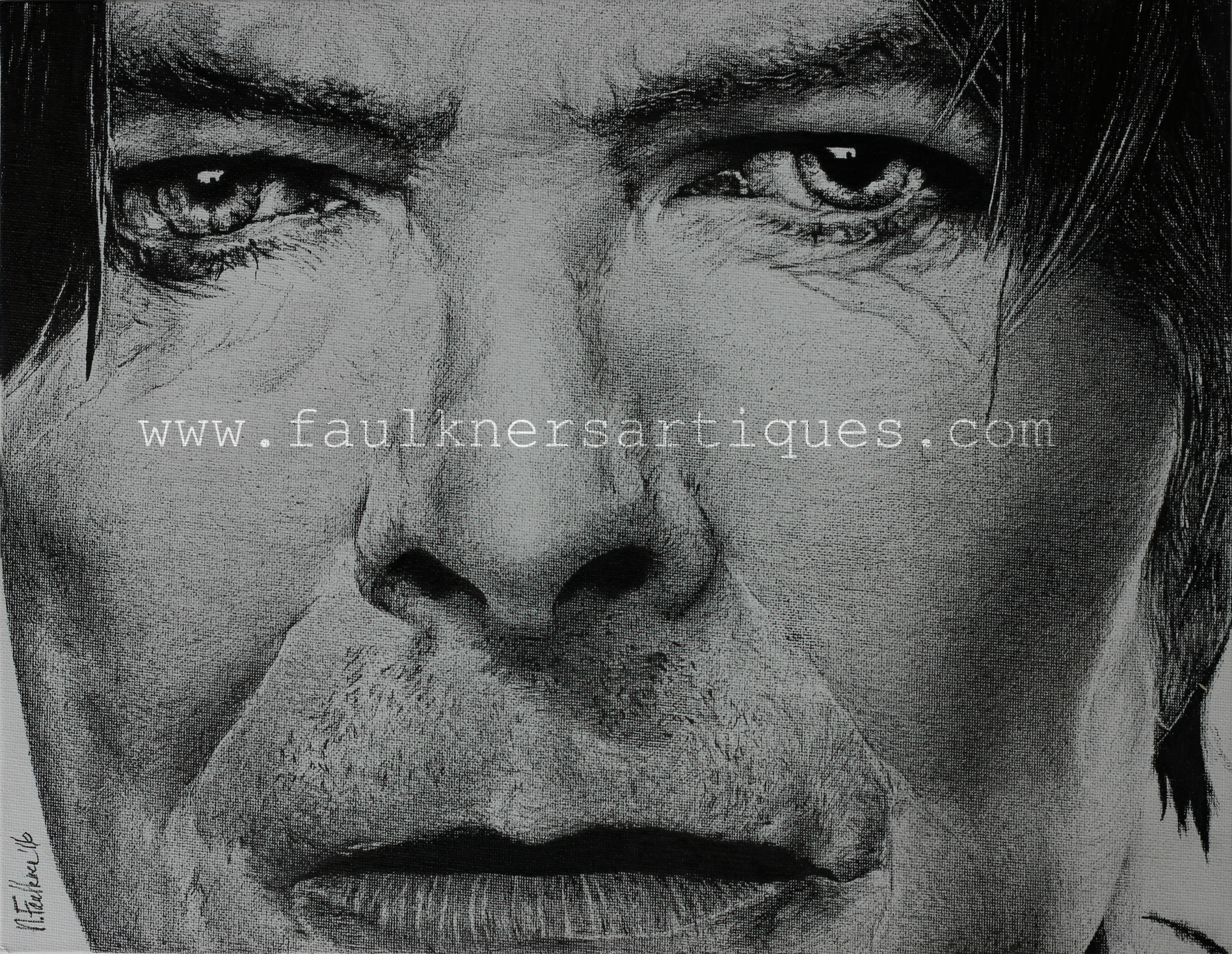 Limited Edition Canvas Print David Bowie Eyes Of The Starman