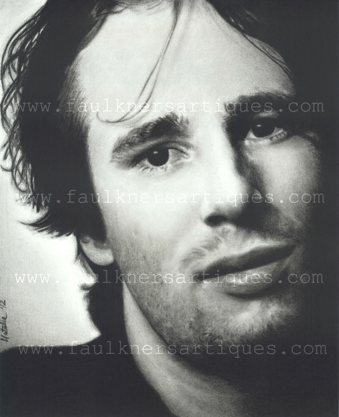 Jeff Buckley Charcoal Pencil Drawing, 2012