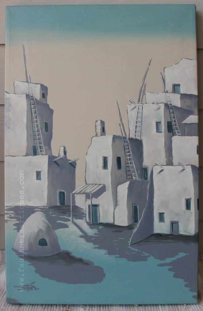 "Myung ""Mario"" Jung Acrylic Landscape Painting on Canvas 2' x 3' - www.faulknersartiques.com"